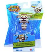 ALPHA SUPER WINGS Transform A Bots! Lentokone Bello, 8 cm