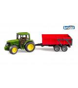BRUDER John Deere 6920 traktori kippiperäkärryllä