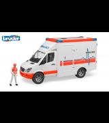 BRUDER MB Sprinter ambulanssi ja hahmo