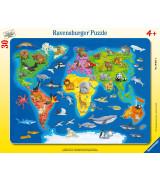 RAVENSBURGER Palapeli Maailman kartta
