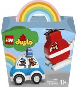 LEGO DUPLO My First Sammutushelikopteri ja poliisiauto 10957