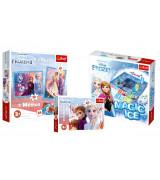 TREFL Frozen setti - Frozen jääkristalli lautapelli, Frozen2 palapeli 60 palaa, Palapelisetti Frozen2
