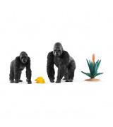 SCHLEICH WILD LIFE Gorillat syömässä