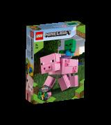 LEGO MINECRAFT BigFig possu ja pikkuzombi 21157