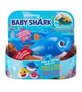 "ZURU BABY SHARK Kylpylelu ""Isähai"", sininen, 9 cm"