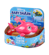 "ZURU BABY SHARK Kylpylelu ""Äitihai"", vaalean punainen, 9 cm"