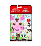 MELISSA & DOUG Make-a-Face Uudelleenkäytettävät pehmeät tarrat Maatila