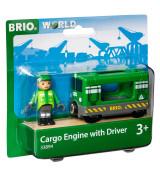 BRIO Tavarajunan veturi ja kuljettaja