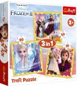 TREFL Palapeli 3 In 1 Frozen 2