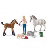 SCHLEICH FARM WORLD Hevoset Eläinlääkärillä