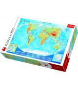 TREFL Palapeli 4000 Maailman Kartta