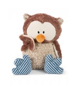 NICI Pehmeä pöllö Oskari, kääntyvä pää 50 cm, ruskea / sininen