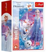 REFL Frozen 2 setti - Frozen 2 lautapeli Metsänhenget, Palapeli 100, Palapeli 160, minipalapeli 54 palaa