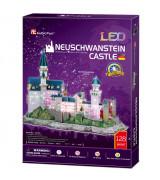 CUBICFUN 3D Palapeli Neuschveinshteinin linna LED