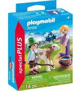PLAYMOBIL Special Plus Lapset vasikkaan kanssa 70155