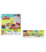 HASBRO PLAY-DOH Burger barbecue + LAHJA PLAY-DOH 4 purkkia