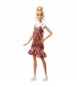 MATTEL BARBIE Fashionistas Doll - nukke ruudullisessa mekossa