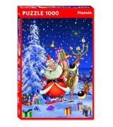 PIATNIK Palapeli 1000 Onnellinen joulupukki