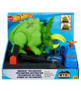 MATTEL HOT WHEELS City Smashin' Triceratops -leikkisetti