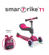 SMARTRIKE T-Scooter T1 vaaleanpunainen