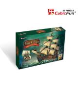 CUBICFUN Palapeli Espanjan sotalaiva The San Felipe