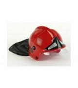 KLEIN Palomiehen punainen kypärä lipalla