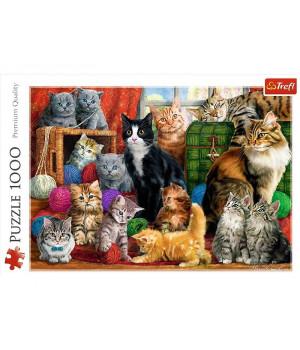 TREFL Palapeli 1000 Kissanpennut
