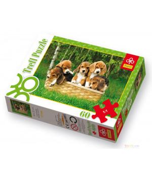 TREFL Koiranpennut -palapeli 60