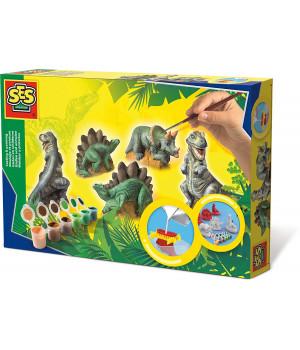 SES Kipsivalu-maalaussetti, dinosaurus