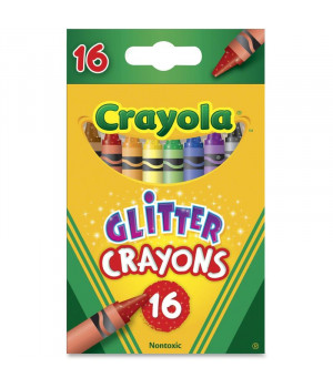 CRAYOLA Glitter-Liidut, 16 Kpl