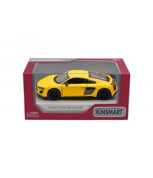 KINSMART 2020 Audi R8 Coupé -leikkiauto vauhtipyörällä (pull back), 12,7 cm, valikoima