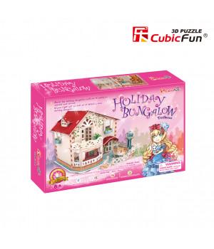 CUBICFUN 3D Palapeli Holiday Bungalow Nukketalo