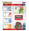KLEIN Eurorahaa (suuria kolikoita) ja muovinen luottokortti