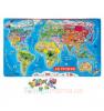 JANOD Magneettinen palapeli maailman kartta
